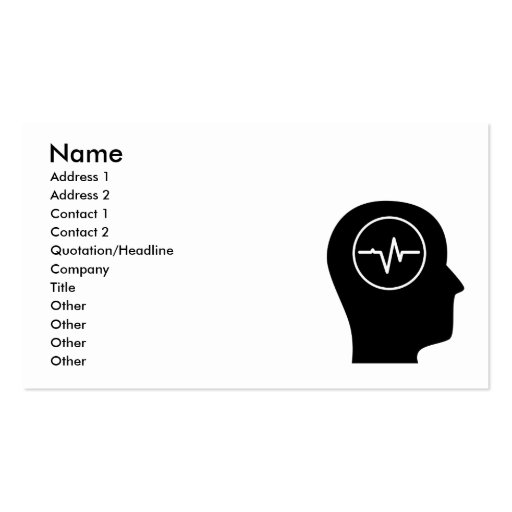 Thinking About Medical Technology Business Card Template