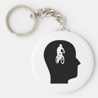 Thinking About Mountain Biking Keychain