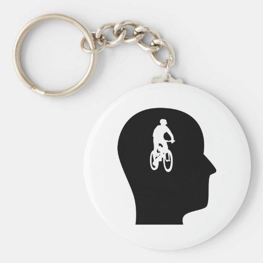 Thinking About Mountain Biking Keychain