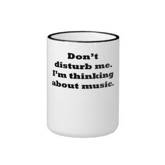 Thinking About Music Mug