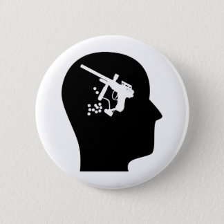 Thinking About Paintball Pinback Button