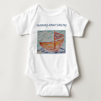 THINKING ABOUT SAILING BABY BODYSUIT