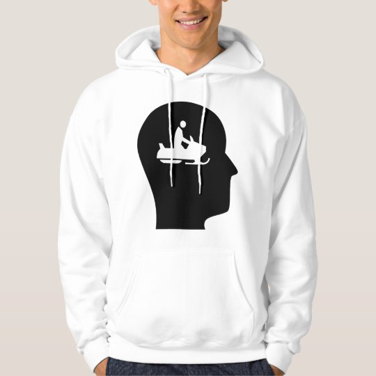 Thinking About Snowmobiling Hoodie