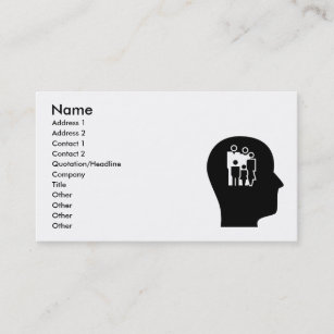 Social work business cards zazzle thinking about social work business card colourmoves