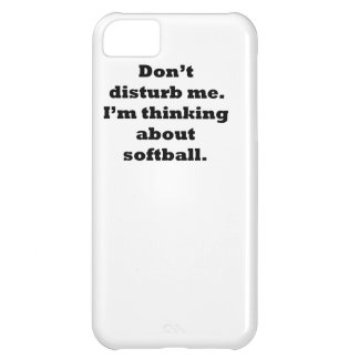 Thinking About Softball Cover For iPhone 5C
