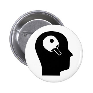 Thinking About Table Tennis Pinback Button