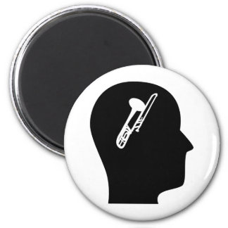 Thinking About Trombone 2 Inch Round Magnet