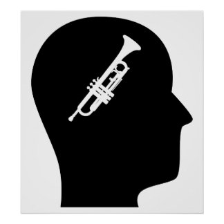 Thinking About Trumpet Poster