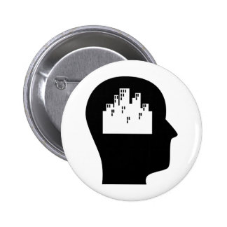 Thinking About Urban Planning Pinback Button