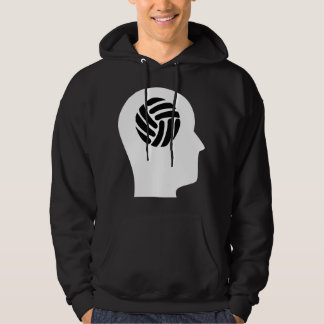 Thinking About Volleyball Hooded Pullover