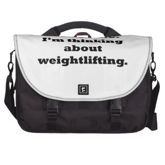 Thinking About Weightlifting Laptop Computer Bag
