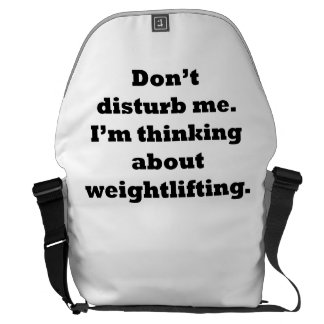 Thinking About Weightlifting Messenger Bags