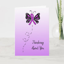 Thinking About You Fibromyalgia Butterfly Card