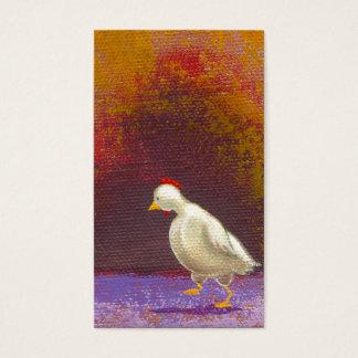 Thinking and Walking - chicken hen fun unique art Business Card