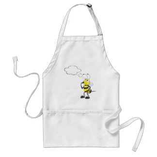 Thinking Bee with Thought Bubble Adult Apron