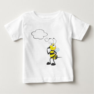 Thinking Bee with Thought Bubble Baby T-Shirt
