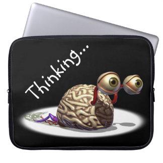 Thinking Brain Laptop Sleeves