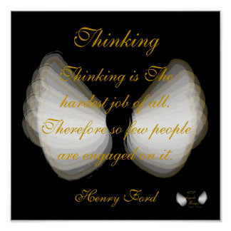 Thinking By Henry Ford Poster- Customize