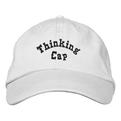 Thinking Cap Funny Embroidered Hat