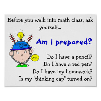 thinking-cap.gif, antes de que usted camine en el  poster