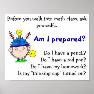 thinking-cap.gif, antes de que usted camine en el  póster