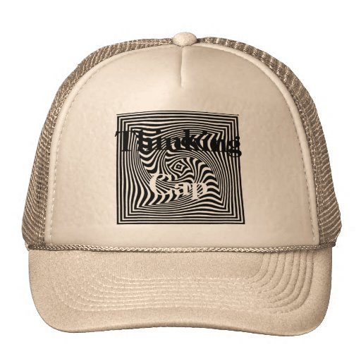 Thinking Cap Optical Art Design Trucker Hat