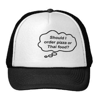 Thinking Cap - Pizza or Thai Food? Trucker Hat