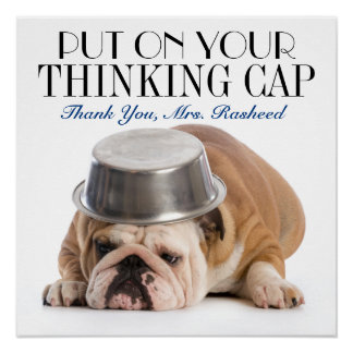 Thinking Cap School Humor Poster