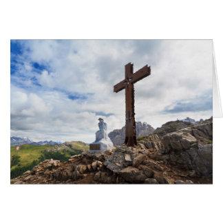 Thinking Christ - Castellazzo mount, Italy Card