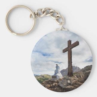 Thinking Christ - Castellazzo mount, Italy Keychain