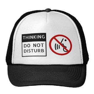 THINKING/DO NOT DISTURB HATS