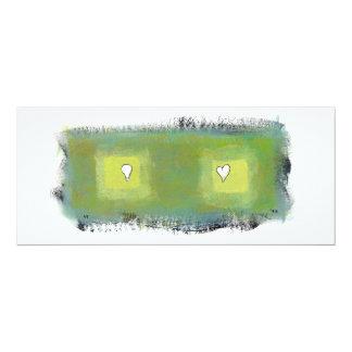 Thinking feeling fun modern painting art symbols personalized invite