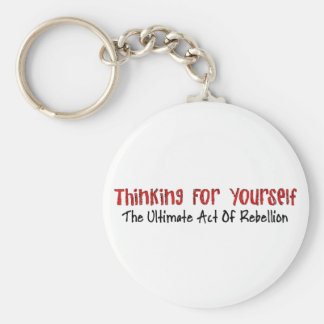 Thinking For Yourself Keychain