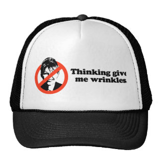 Thinking gives me wrinkles trucker hat