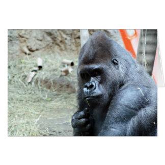 Thinking Gorilla Greeting Card