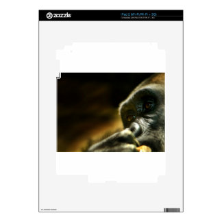 Thinking Gorilla Face Skin For The iPad 2