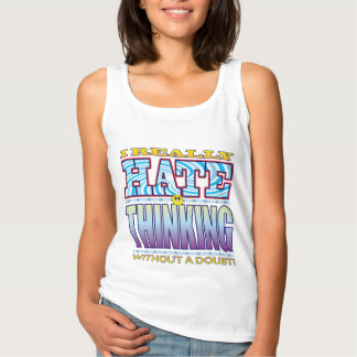 Thinking Hate Face Basic Tank Top