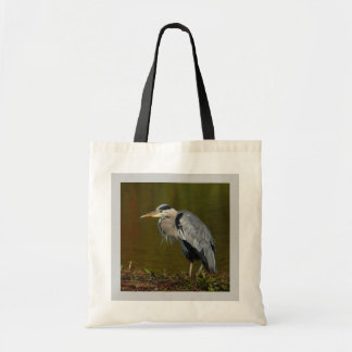 Thinking Heron Canvas Bags