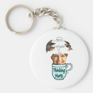 thinking hurts keychain