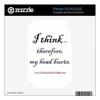Thinking hurts skins for the iPhone 3GS
