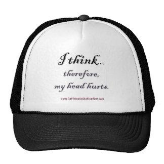 Thinking hurts trucker hat