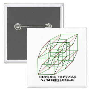 Thinking In Fifth Dimension Can Give A Headache Pins