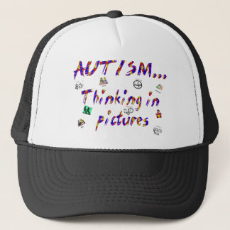 Thinking in pictures trucker hat
