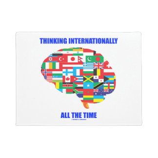 Thinking Internationally All The Time Flags Brain Doormat