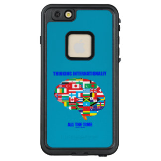 Thinking Internationally All The Time Flags Brain LifeProof FRĒ iPhone 6/6s Plus Case