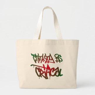 Thinking Is Critical Large Tote Bag