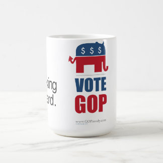 Thinking is Hard Vote GOP mug