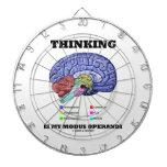 Thinking Is My Modus Operandi (Anatomical Brain) Dartboard With Darts