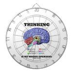 Thinking Is My Modus Operandi (Brain Anatomy) Dart Board