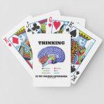 Thinking Is My Modus Operandi (Brain Anatomy) Bicycle Playing Cards